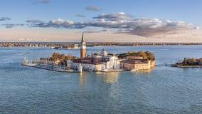 Desatención de la basílica San Jorge en Venecia Imagenes de archivo