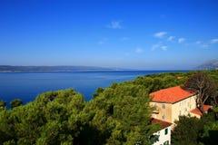 Desatención del mar adriático, momentos de Croacia Fotografía de archivo libre de regalías