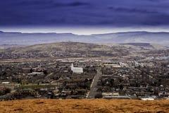 Desatención del St. George Utah de la ciudad Foto de archivo