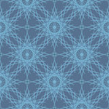Desaturated blue lace snowflakes seamless pattern stock illustration