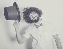 Desaturated Kunstfoto mit gutaussehendem Mann lizenzfreie stockfotografie