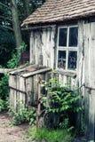 Desaturated skutka krajobraz starzy blacksmiths warsztatowi w Vict Zdjęcie Stock