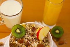 Desayuno 15 de Muesli Fotografía de archivo libre de regalías