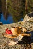 Desayuno adentro al aire libre Foto de archivo libre de regalías