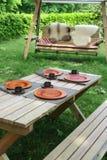 Desayuno afuera Imagen de archivo libre de regalías