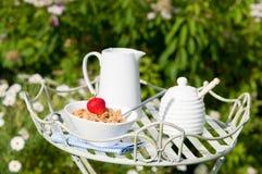 Desayuno al aire libre Imágenes de archivo libres de regalías