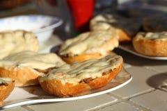 Desayuno al aire libre Foto de archivo libre de regalías