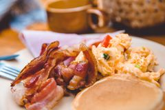 Desayuno americano imagenes de archivo