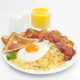 Desayuno americano Imágenes de archivo libres de regalías