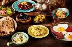 Desayuno argelino marroquí Fotografía de archivo