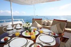 Desayuno a bordo imagen de archivo libre de regalías