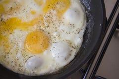 Desayuno caliente de los huevos Imágenes de archivo libres de regalías