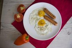 Desayuno caliente de los huevos Imagen de archivo