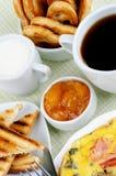 Desayuno caluroso Fotografía de archivo
