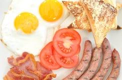 Desayuno cocinado Foto de archivo libre de regalías