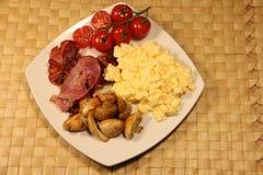 Desayuno cocinado imagen de archivo