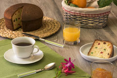 Desayuno con Fotografía de archivo