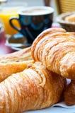 Desayuno con café Fotos de archivo
