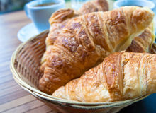 Desayuno con café Foto de archivo libre de regalías