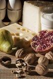 Desayuno con la comida mediterránea Imagen de archivo libre de regalías
