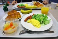 Desayuno con la diversa comida Imagenes de archivo