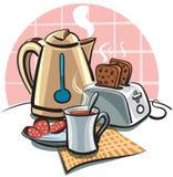 Desayuno con la tostada Imagenes de archivo
