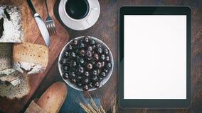 Desayuno con pan imagen de archivo libre de regalías