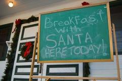 Desayuno con Santa fotografía de archivo libre de regalías