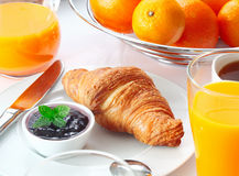 Desayuno continental sabroso Foto de archivo