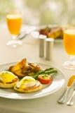 Desayuno de Benedicto de huevos Fotos de archivo libres de regalías