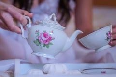 Desayuno de la boda Fotografía de archivo libre de regalías