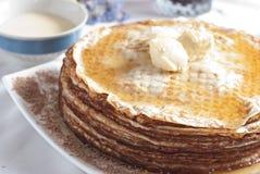 Desayuno de la crepe Imagen de archivo
