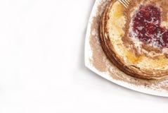 Desayuno de la crepe Fotografía de archivo