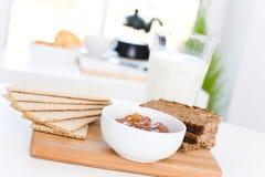 Desayuno de la dieta Fotos de archivo libres de regalías