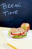 Desayuno de la escuela Fotografía de archivo
