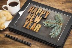 Desayuno de la Feliz Año Nuevo Fotografía de archivo