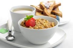 Desayuno de la harina de avena Fotografía de archivo libre de regalías