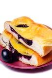 Desayuno de la jalea y de la fruta de uva Imagen de archivo