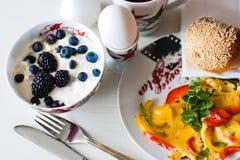 Desayuno de la mañana Imágenes de archivo libres de regalías