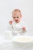 Desayuno de la niña Imagen de archivo