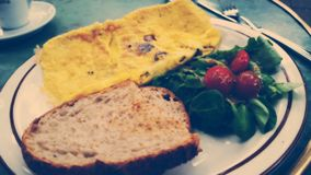 Desayuno de la tortilla Fotografía de archivo libre de regalías