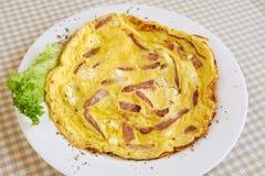 Desayuno de la tortilla del huevo Fotos de archivo