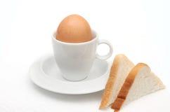 Desayuno de la tostada del huevo Fotografía de archivo libre de regalías