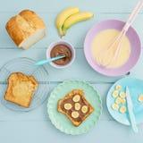 Desayuno de la tostada francesa Imagenes de archivo