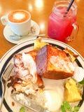Desayuno de la tostada francesa Fotografía de archivo