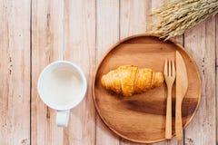 Desayuno de las mujeres del amante de la salud foto de archivo