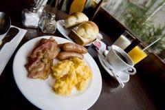 Desayuno de las salchichas Fotografía de archivo libre de regalías