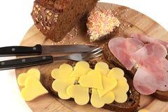 Desayuno de las tarjetas del día de San Valentín Fotografía de archivo