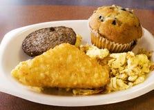 Desayuno de los alimentos de preparación rápida Foto de archivo libre de regalías