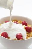 Desayuno de los copos de maíz imágenes de archivo libres de regalías